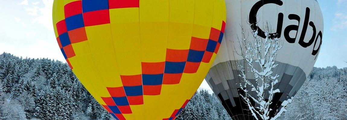 Start der Alpenüberquerung im Heißluftballon