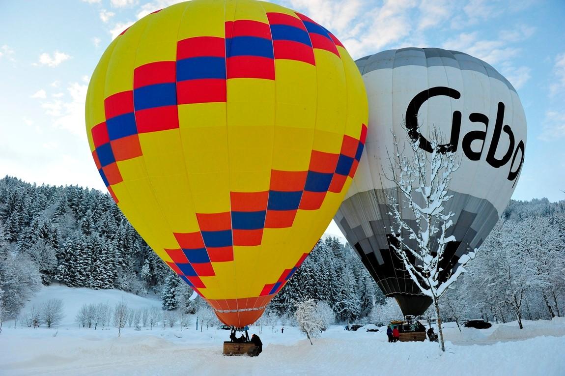 Alpenfahrt im Heißluftballon