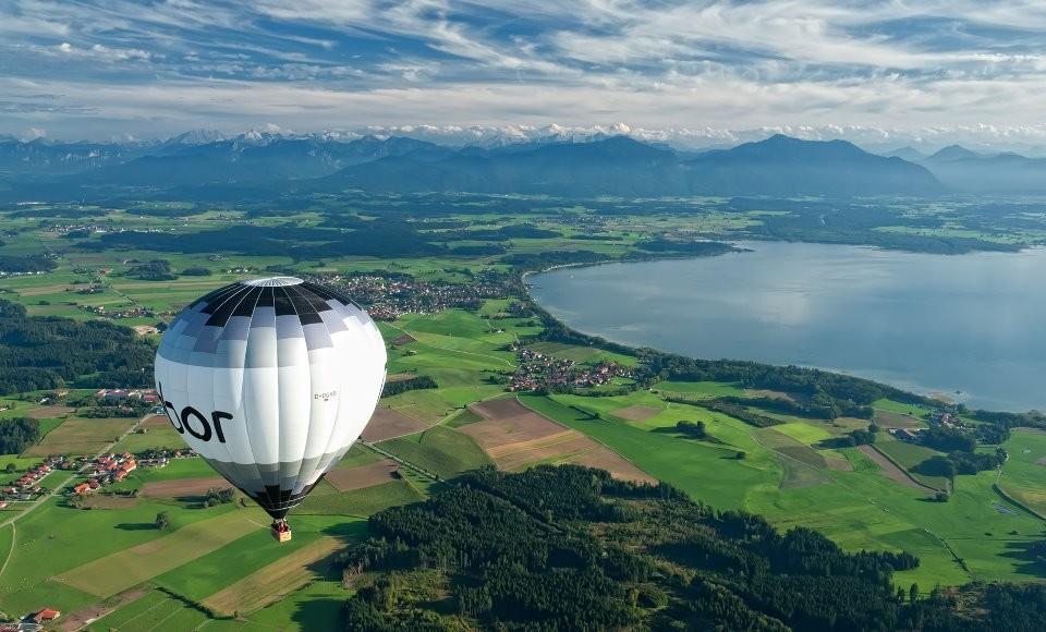 Heißluftballon fahren im Chiemgau