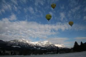 Winter Ballonfahrt St. Johann